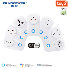 FrankEver Wifi Smart Socket 10A 16A Power Monitoring Surge Protector for Israel India Brazil Italy UK EU AU Smart Household Plug