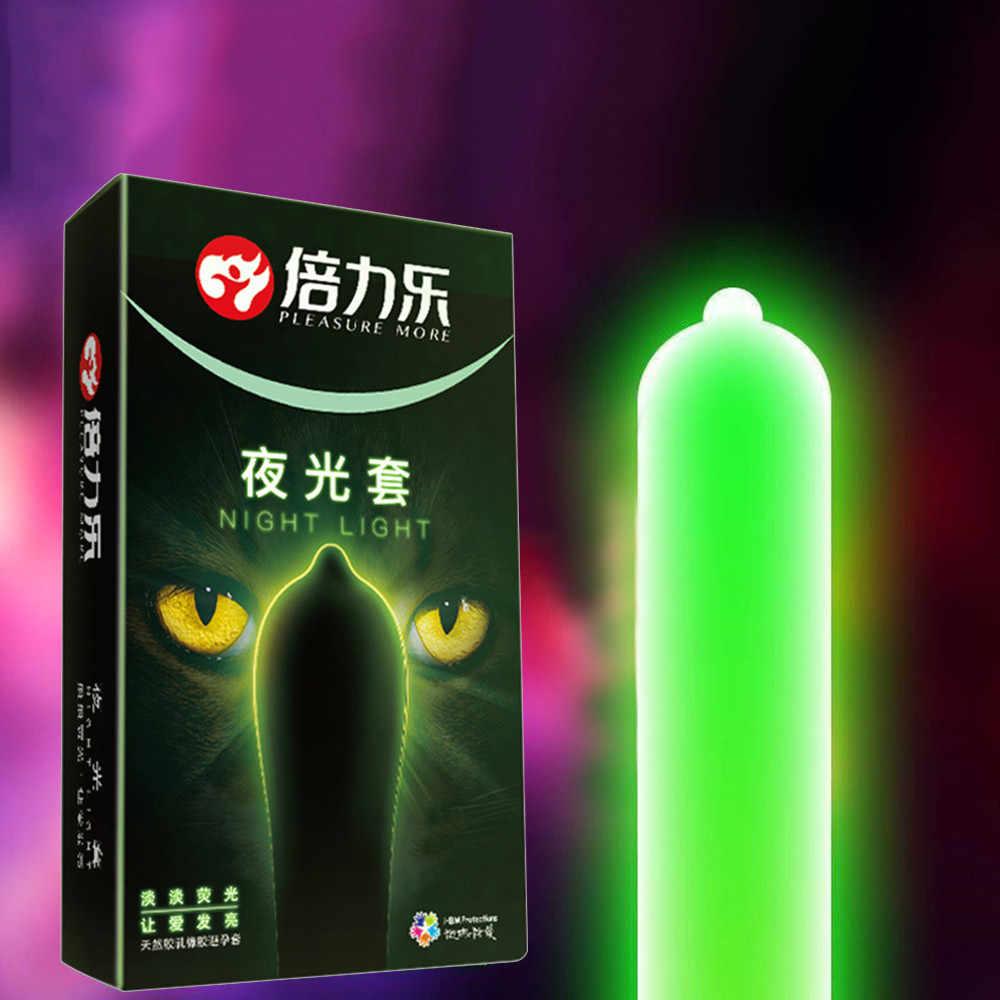 JIUAI 7 pièces préservatifs des hommes à manches pour pénis Veilleuse Adulte Préservatif En Latex Lumineux Préservatif 3 pièces Lueur + 4 pièces Brillent Pas G0904 #35
