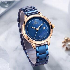 Image 2 - נשים שעונים NAVIFORCE למעלה מותג יוקרה שעון קוורץ עמיד למים נשים של שעוני יד גבירותיי בנות אופנה שעון relogios feminino