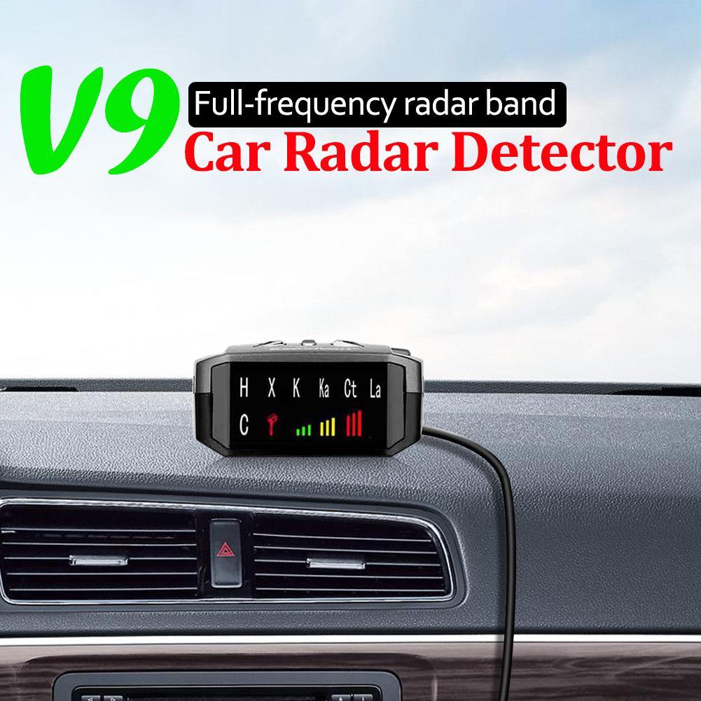 V9 автомобильный радар-детектор на английском и русском языках, голосовое оповещение, радар-сигнал, светодиодный дисплей, система тестирова...