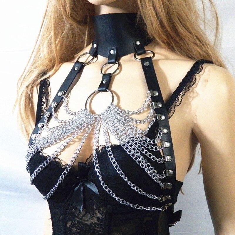 2020 New Design Body Chains For Women BDSM Bondage Belly Chain Punk Style Tassel Strap Fashion Stylish Waist Chain Female ZK785