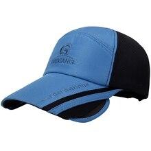 New Baseball Cap Wide Retractable Brim Breathable Mesh Tennis Golf Cap Outdoor Fishing Camping Travel Beach Sun Hat Hip Hop Cap