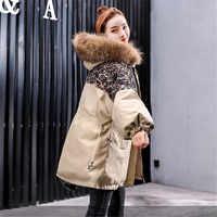 Orta uzun bölüm aşağı pamuklu ceket yastıklı kadın 2019 kış yeni pamuk ceket Kore versiyonu gevşek kalınlaşmak kapşonlu ceket YH414