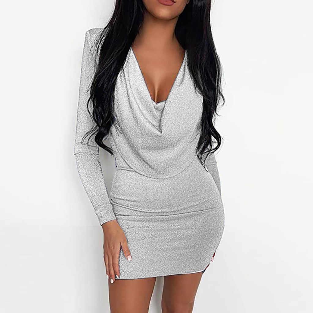 2019 여성 섹시한 반짝이 장식 조각 반짝이 드레스 Bodycon 미니 짧은 클럽 드레스 들러리 드레스 슬림 드레스 Vestidos