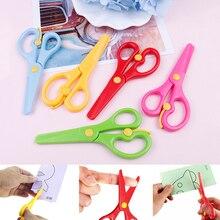 Head-Scissors Paper-Cutting School-Supplies Safety Plastic Mini Round Cute Student 1pcs