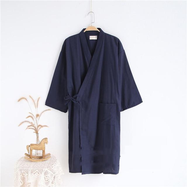 Samurai Men Japanese Pajamas Sets Cotton Kimono Yukata Jinbei Sleepwear Bathrobe Casual Home Wear Lover Couple s Clothing