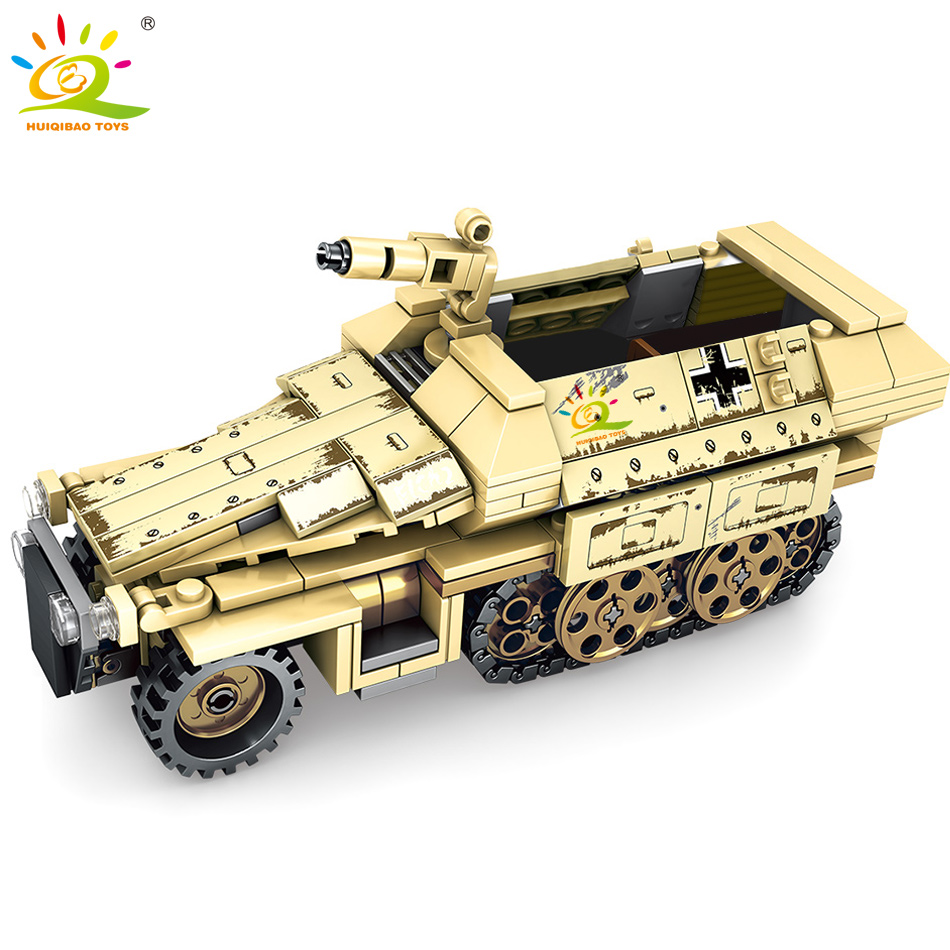 355pcs Military Armored Truck Building Blocks Legoing Army Car Vehicle Soldier Figures Weapon Model Bricks Kit Toys For Children
