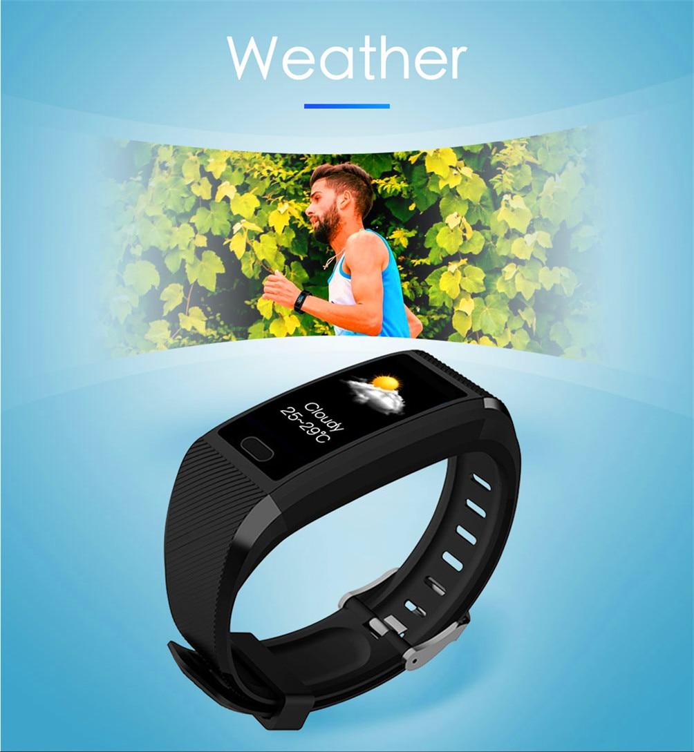 H5aa9e9d211f743e589ba31272d289516T 2020 Smart Wristband Fitness Bracelet Blood Pressure Measurement Smart Bracelet Heart Rate Waterproof Pedometer Smart Band Watch