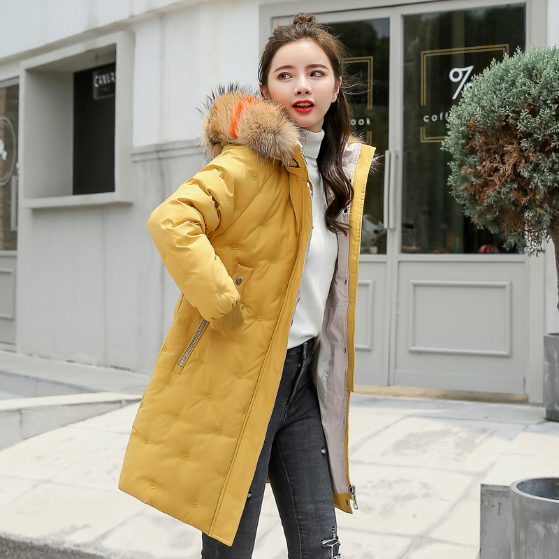 Women&39;s Jacket Large Size 2019 Female Long Hooded Fur Collar Parka_B4_15