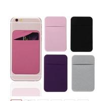 1PC Mode Elastische Tuch Handy Karte Halter Handy Brieftasche Fall Kredit ID Karte Halter Klebstoff Aufkleber Tasche