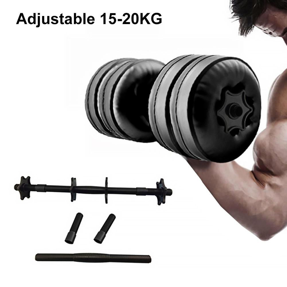 Water Filled Adjustable Dumbbells Weight 20KG for Fitness Travel Weightlifting Bodybuilding Workout Gym Fitness Equipment Parts image