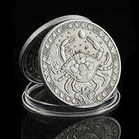 2020 cáncer Zodiaco cáncer de las 12 Constelaciones en relieve monedas Token colección de monedas, regalo (6,22-7,22)