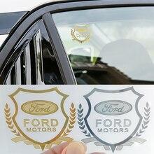1 шт. 3D металлический автомобиль Стикеры чехол с эмблемой крышка с нашивками для Броды кольцо адаптера FF 2 3 1 MK2 MK3 MK1 Fusion аксессуары для стайли...