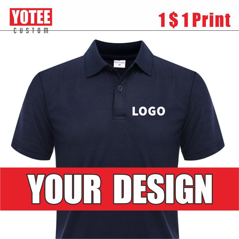 YOTEE Summer Men's Polo Shirt Cheap Casual Short Sleeve Personal Company Group Logo Custom Men and Women Custom Top