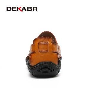 Image 3 - DEKABR Mới Nam Nam Da Thật Chính Hãng Giày Sandal Nam Mùa Hè Nhân Quả Giày Đi Biển cho Người Đàn Ông Thời Trang Ngoài Trời Đế Mềm
