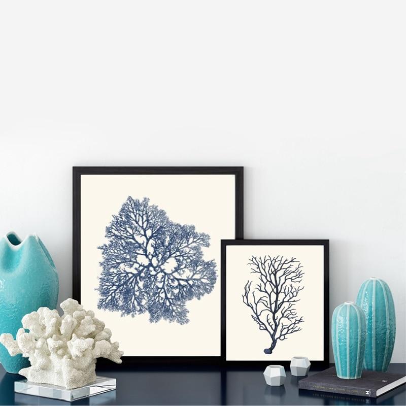 Navy blue Cora Canvas Art Prints Home Decor