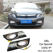 цена на ECAHAYAKU led drl daytime running light car led fog lights for Honda Civic 2012 2013 2014 car styling led day light drl 12v