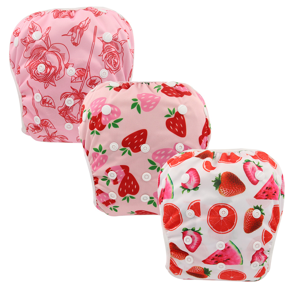 3 PACK Baby & Toddler Snap One Size Adjustable 2020 New Summer Ohbabyka Reusable Baby Swim Diaper Eco-Friendly Baby Shower Gifts