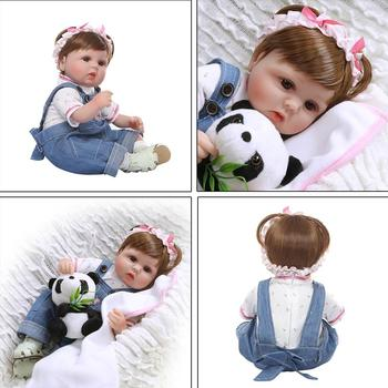 16'' Reborn Doll Realistic Silicone Vinyl Newborn Babies Toy Girl Princess Clothes Pacifier Lifelike Handmade Gift