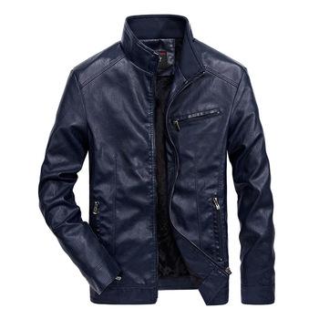 Men's Leather Jackets Leather Coats Thick Autumn Men Leather Biker Fake Leather Jacket PU Jacket Pu Solid Motorcycle