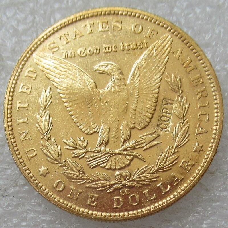 セット全体のモルガンドル 96 個米国コイン銅/ゴールドメッキコピー  グループ上の ホーム&ガーデン からの 非通貨コイン の中 1