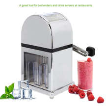 Shredder-Machine Snow-Cone-Maker Ice-Crusher Portable Household Manual Smoothie Stainless-Steel