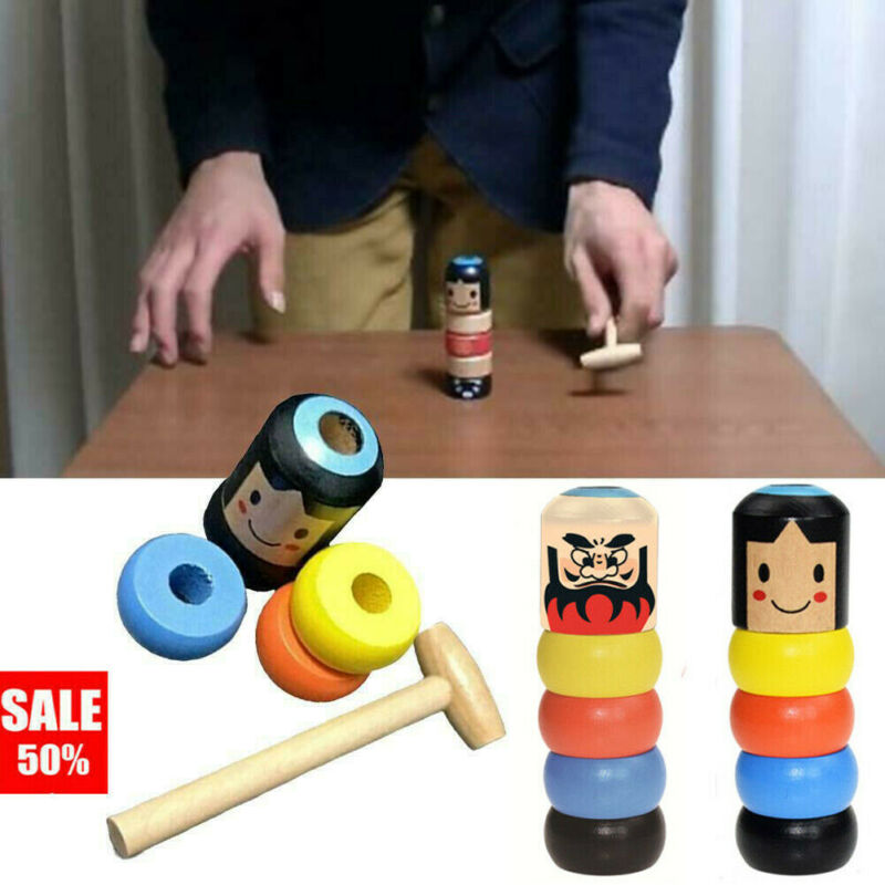 Immortal Daruma Toys 2019 Brand New Magic Immortal Stubborn Wood Man Wooden Funny Magic Toy Unbreakable