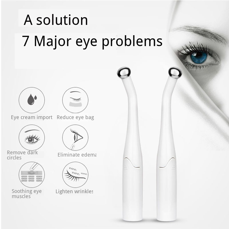 Micro-current Eye Wand Vibrating Eye Massager Negative Ion Importing Intelligent Induction Anti Wrinkle Eyes Face Skin Care Tool