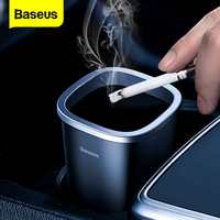 Baseus-minicubo de basura para coche, Cubo de basura, organizador, papelera de escritorio, accesorios