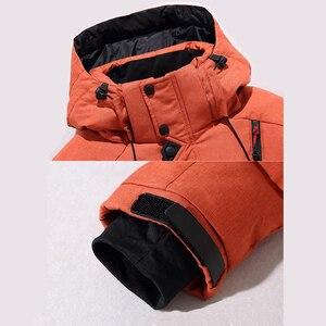 Image 5 - באיכות גבוהה עבה חם חורף מעיל גברים סלעית לעבות ברווז למטה דובון מעיל מזדמן לרזות Mens מעיל עם רבים כיסים