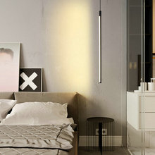 Luces LED colgantes para dormitorio, sala de estar, Loft, decoración nórdica para el hogar, negro moderno