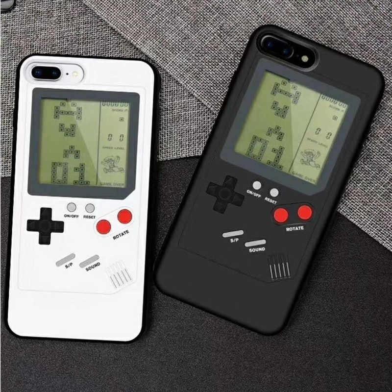 Gameboy Jeu étui pour iphone 11 Pro Max 7 8 6 Plus XS Max XR X Tetris Rétro coques de téléphone pour Apple Obudowy Na Téléphone Etui