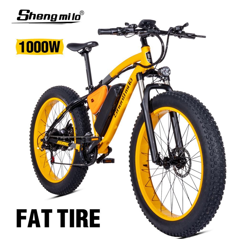 Electric bike ebike 48V1000W electric mountain bike 4.0 fat tire Electric Bicycle beach E-bike electric electric motorcycle