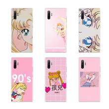 Sailor Moon Kawaii Japan cute Soft Phone Case Cover For Samsung galaxy J3 J5 J6 J7 2017 2016 2018 Prime Pro Note 8 9 10 Plus(China)