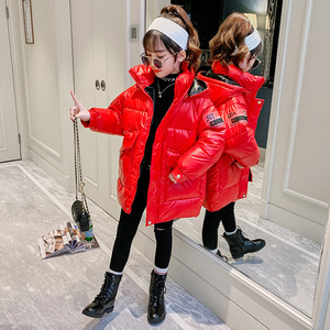 Image 2 - Hot Koop Xmas Meisjes Warme Winter Jas Kunstmatige Haar Lange Kids Capuchon Jas Voor Meisje Bovenkleding Meisjes Kleding 4 12 Y