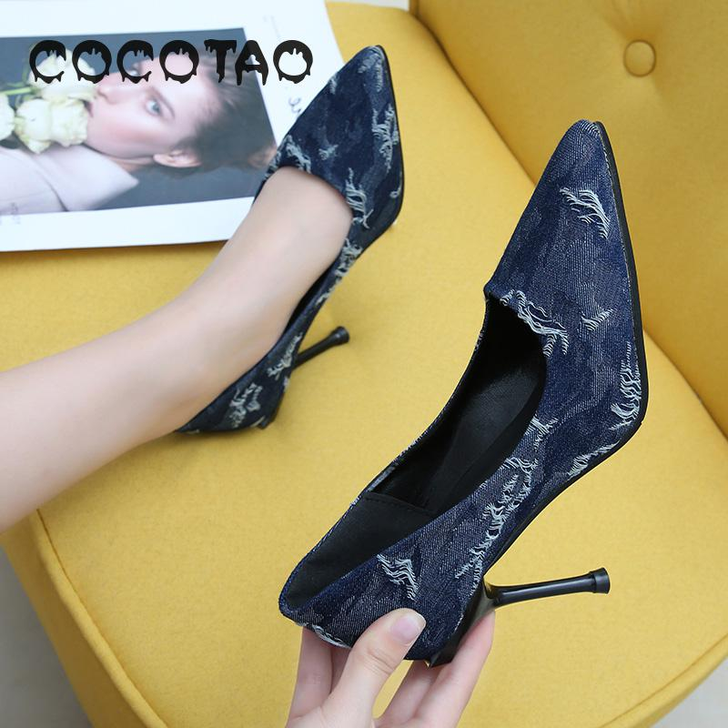 The New Summer 2019 Han Edition Of Shallow Sexy Mouth Set Foot Joker Socialite Nightclub Pointed Fine With High Heels 33 in Women 39 s Pumps from Shoes