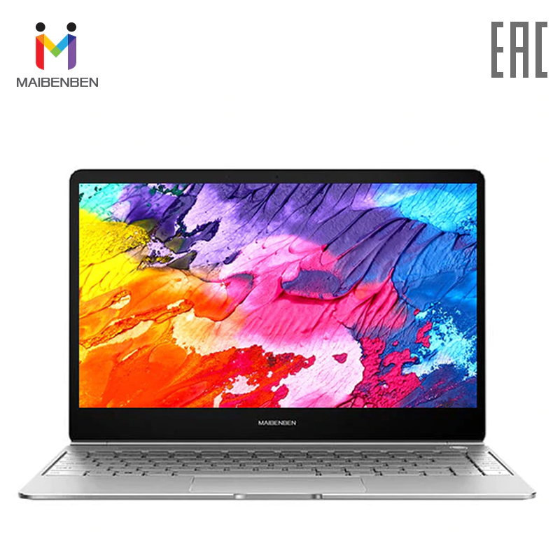 Ультратонкий ноутбук MAIBENBEN JinMai 6 13,3 FHD/ADS/1,3кг/14,5мм/Intel N4000/8ГБ/240ГБ SSD/Intel(R) HD Graphics 600/DOS
