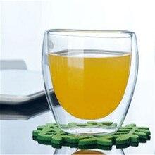 150 до 450 мл Горячая твердая стеклянная кофейная кружка Прозрачная с двойными стенками Изолированная термальная чайная чашка для питья