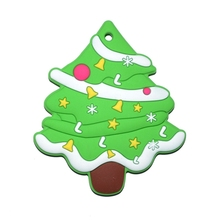 1Pcs Baby Teether Molar Stick Silicone Christmas Tree Pacifier Pendant Tiny Rod
