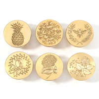 Patrón de plantas 3D tallado sello cera latón sello aduana sobres tarjeta suministro boda creativo regalo cera sello cabeza