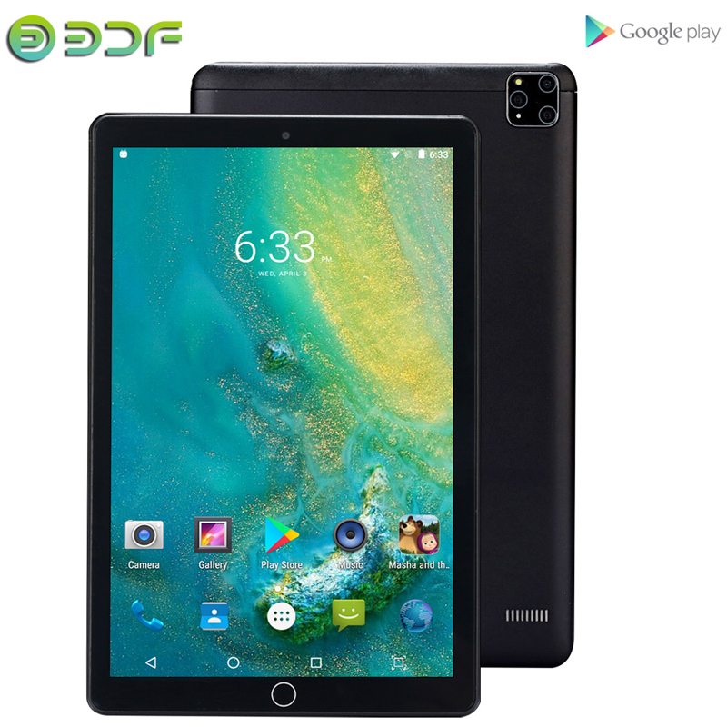 Latest 2020 Tablets New System 10.1 Inch Tablet Android 7.0 3G Phone Call Wi-Fi Bluetooth 4.0 Dual SIM Super Memory Tablet PC