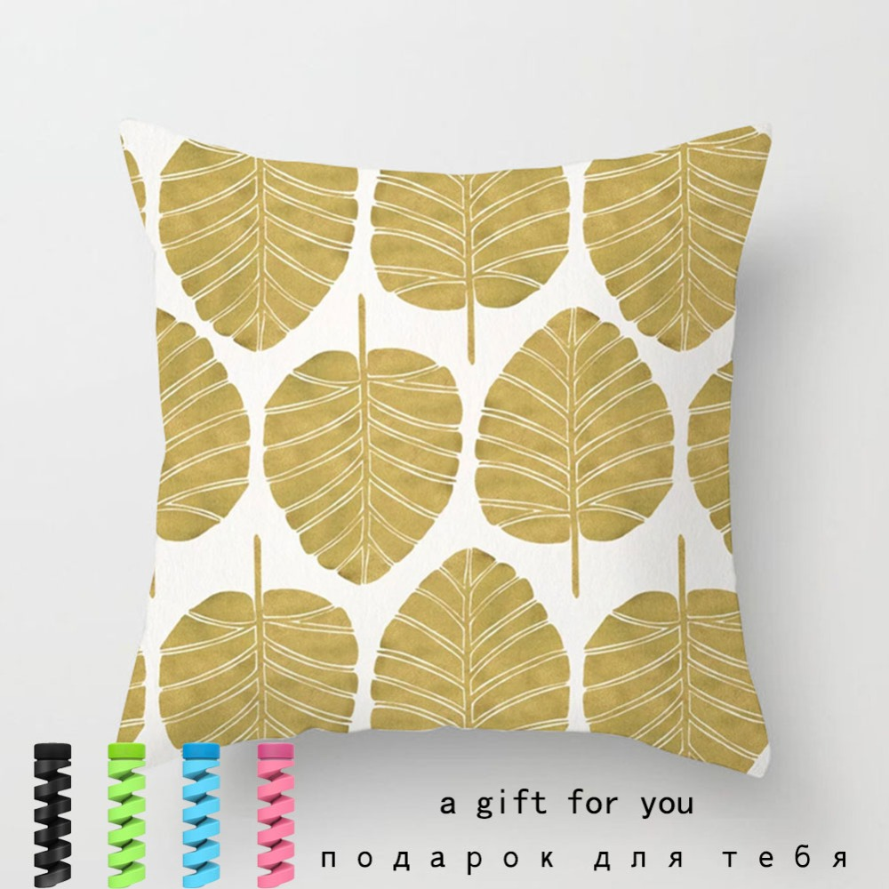 Tropical Leaf Cactus Monstera Cushion Cover Polyester Throw Pillows Sofa Home Decor Decoration Decorative Pillowcase 40506-1 (17)