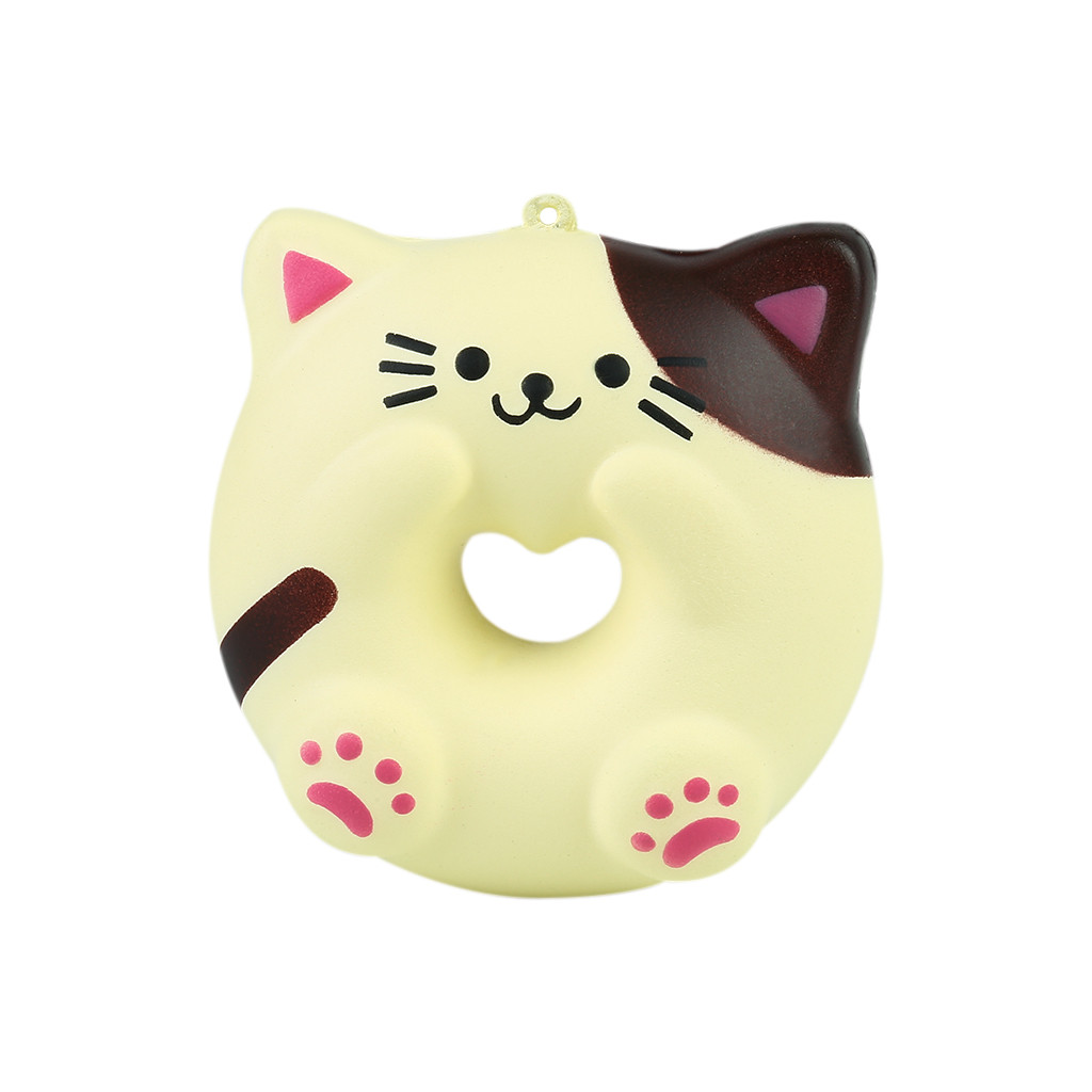 HIINST 2020 New Hot Squishies Soft Lovely Cat Doughnut Cream Scented Slow Rising Stress Adorable Toys Unzip For Kids&adults