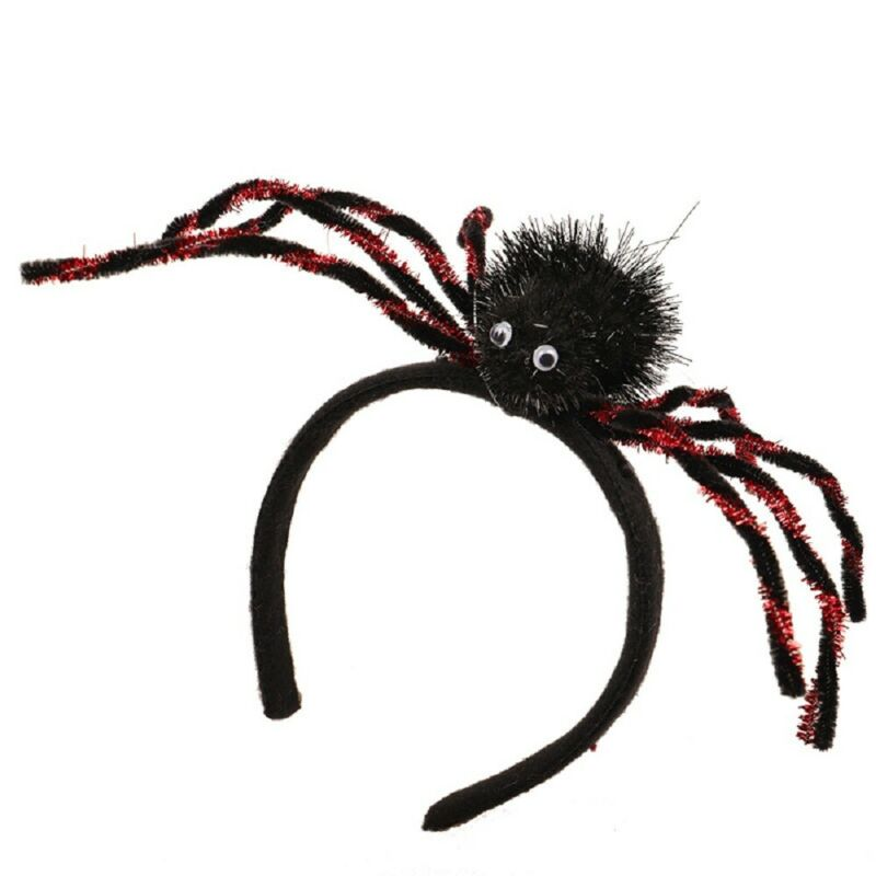 Girls Headband For Halloween Costume Spider Headband Hair Accessories Party Decor Props For Kids And Women