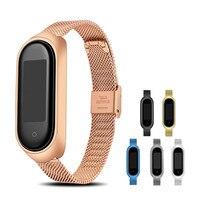 Metall Strap für Xiaomi Mi Band 4 5 Armband Sport Armband für Miband 5 4 3 Ersatz Atmungsaktive Strap für xiaomi Miband 3 4