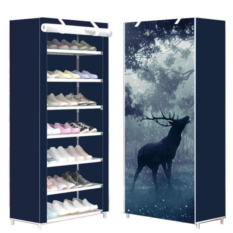 بسيطة ثماني طبقات رف الأحذية المنزلية الغبار واقية متعدد الطبقات خزانة خذاء تخزين رف للأحذية الصغيرة