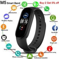 Reloj inteligente Digital para hombre y mujer, pulsera de M5 con rastreador deportivo, banda para Adriod e IOS, 2020
