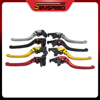 Clutch Brake Lever For Honda PCX 125 150 2012-2019 Semspeed Motorcycle CNC Aluminum Folding brake levers image