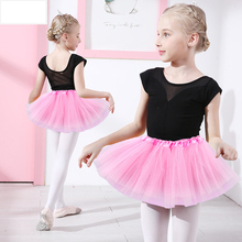2-8 Years Girls Skirts Ballet tutu Polyester 5 Color Black Pink Red Purple White Dancewear Lace Mini Tutu Skirt 2019 New D30