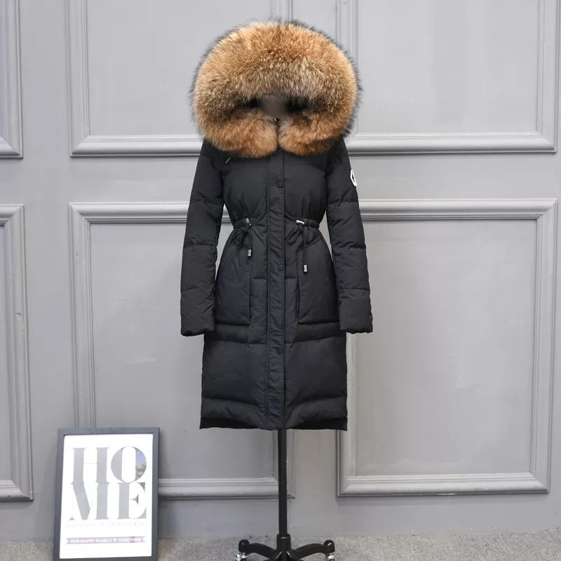 Winter Down Coat Female Jacket Raccoon Fur Hooded Clothes 2019 Korean Thick Duck Down Jacket Long Warm Coat Hiver LW1515